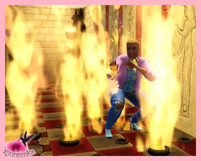 Огонь в мире The Sims 3